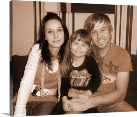 Familien Fotoleinwand