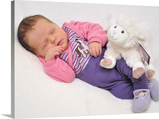 Babyfoto Leinwand