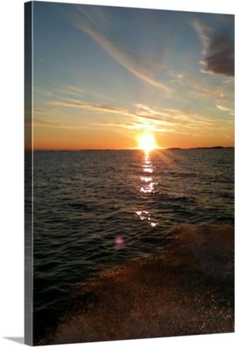 Sonnenuntergang auf Leinwand