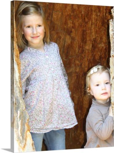 Geschwister als Fotodruck