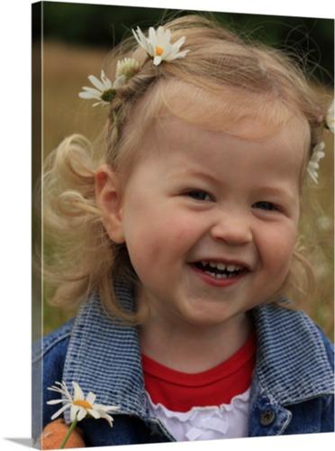 Kinderfoto als Leinwanddruck