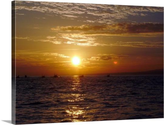 Photo sur toile coucher de soleil