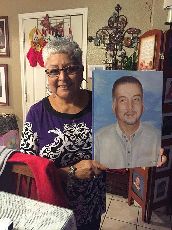 memorial oil portrait - photo testimonial