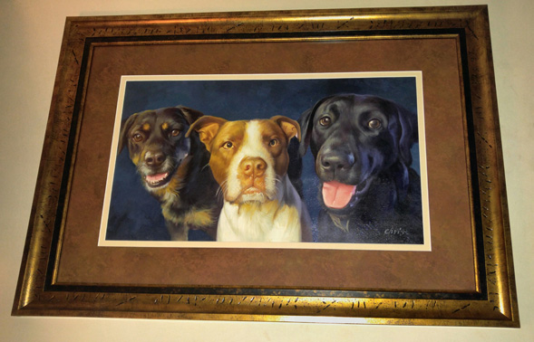 acrylic dog portrait