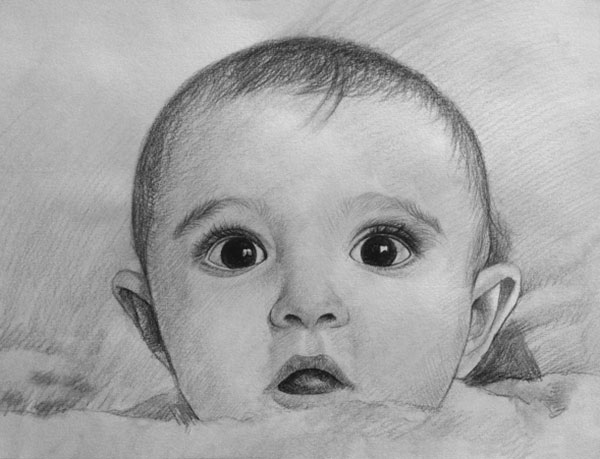 drawing of a baby