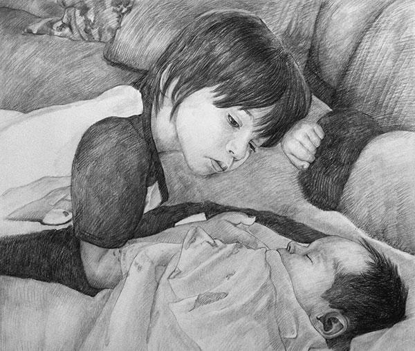 children portrait from a photo