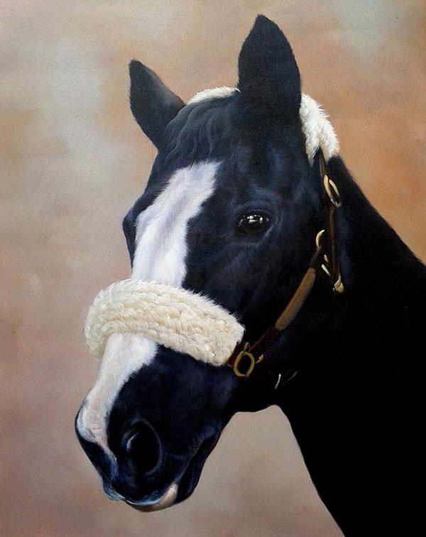 Handmade horse painting