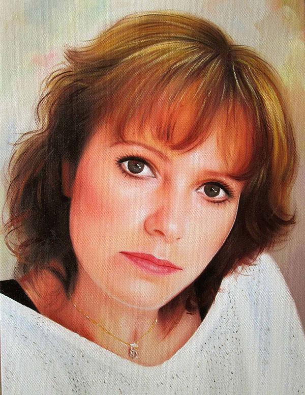 Gemälde von einer Frau in Öl