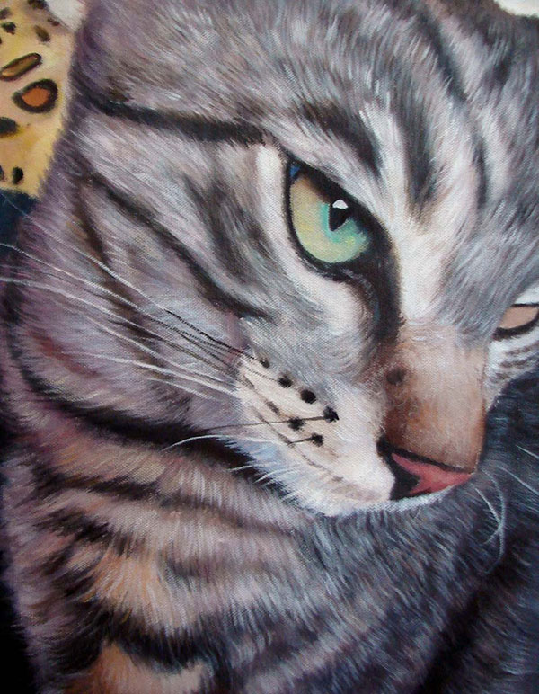 Katzenfoto als Ölgemälde