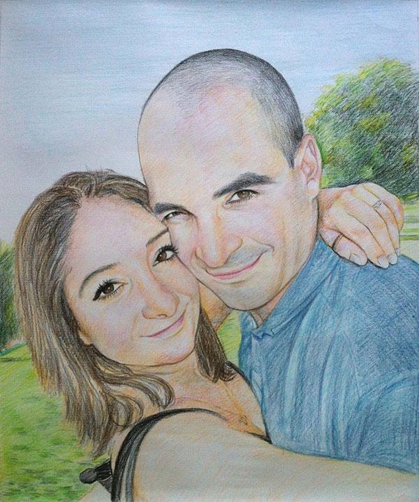 Joli peinture de couple