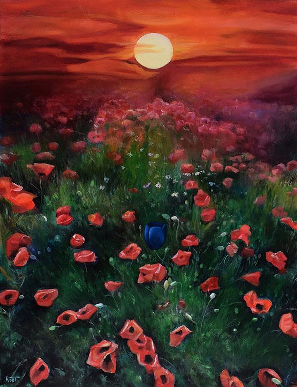 Custom oil landscape painting