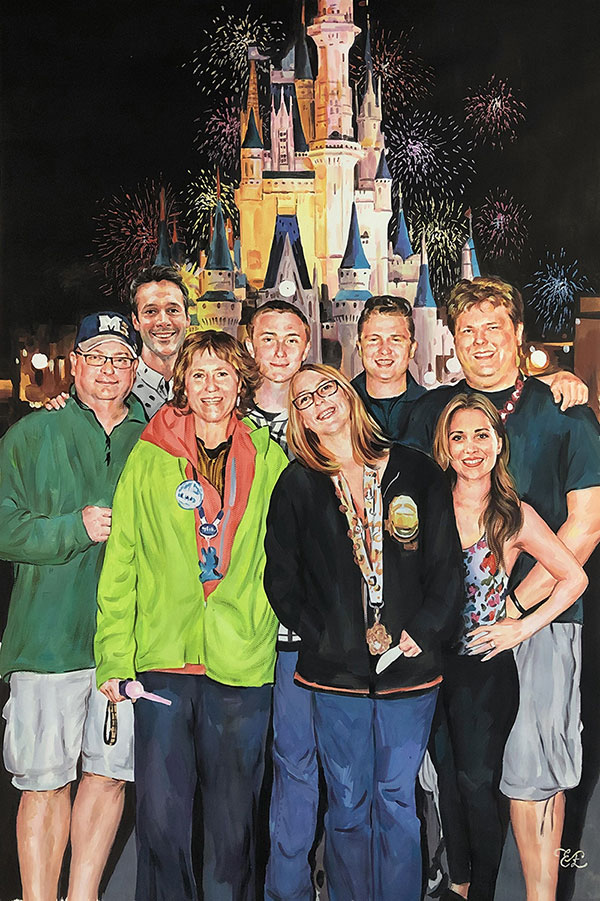 family portrait disney land