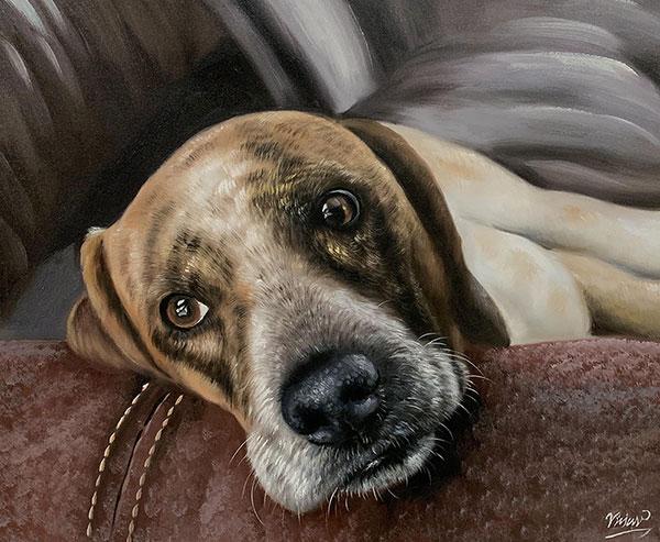 Gemälde von einem Hund