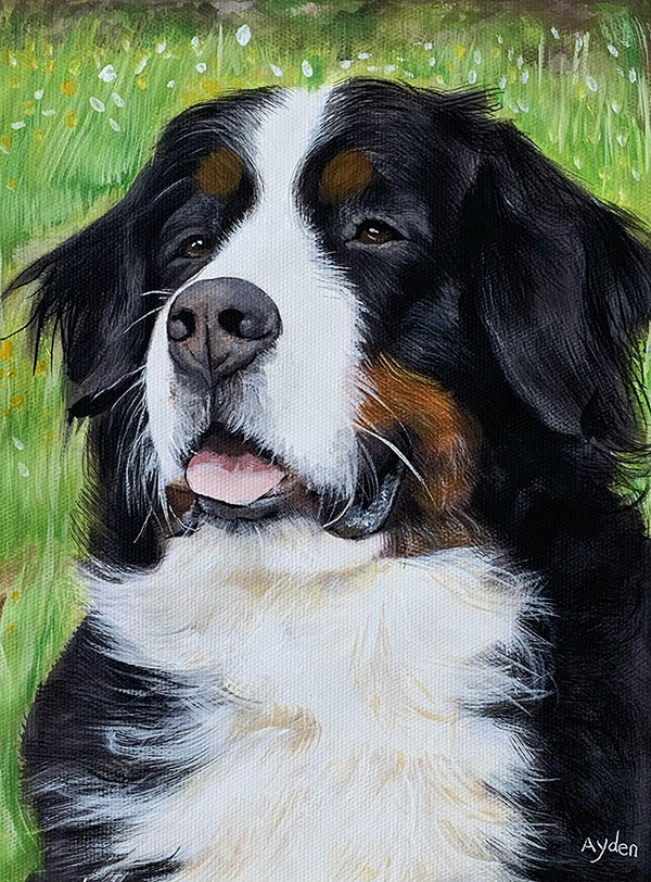 photo to realistic pastel painting dog