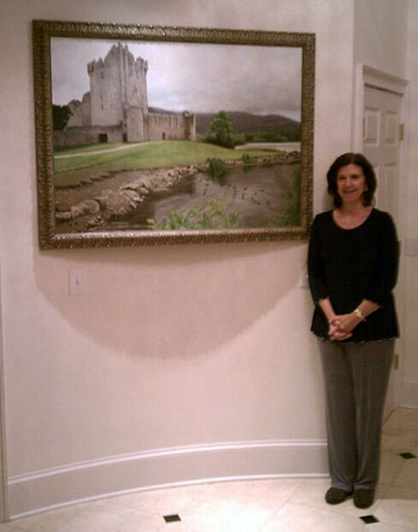 Oil Painting from Photo of Castle Scene