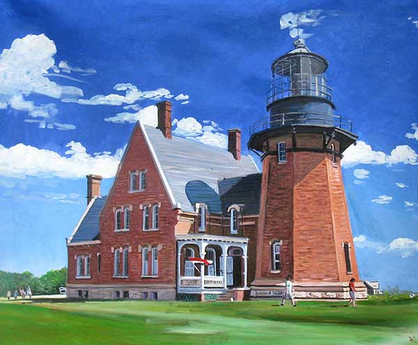 custom acrylic portrait of a lighthouse