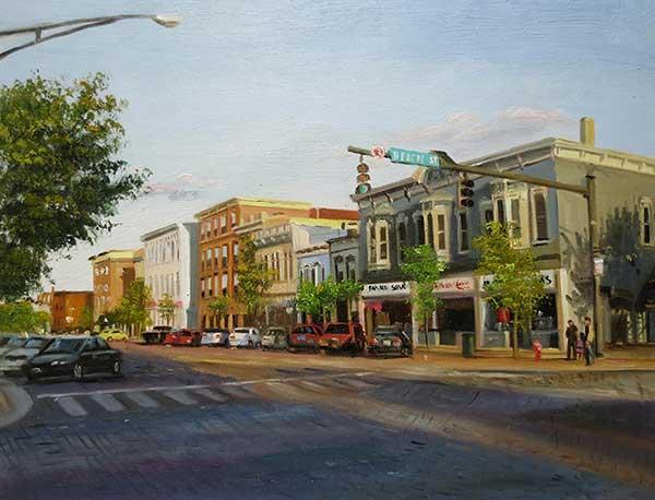 oil landscape street