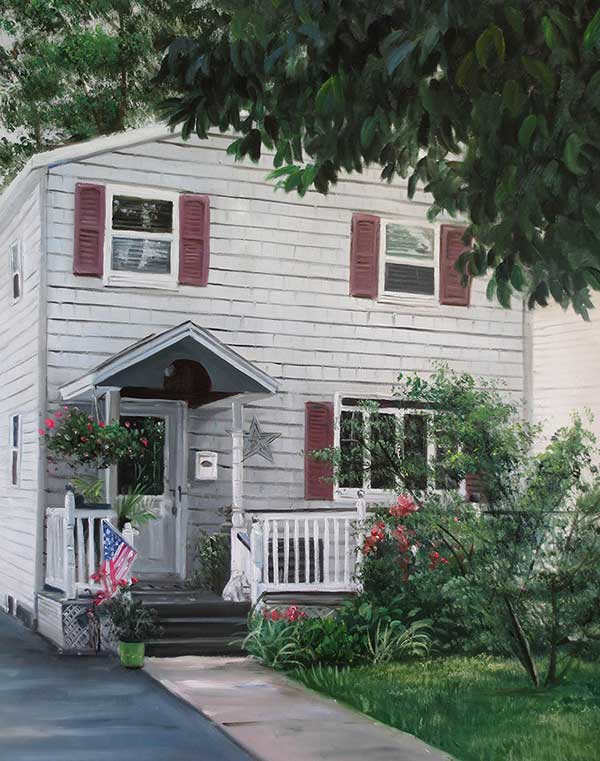 american flag house painting
