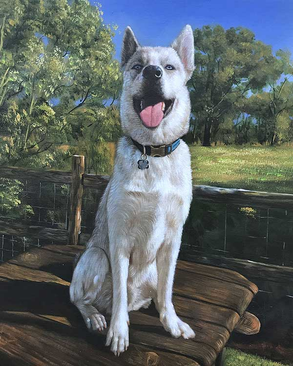 Hundegemälde Leinwand