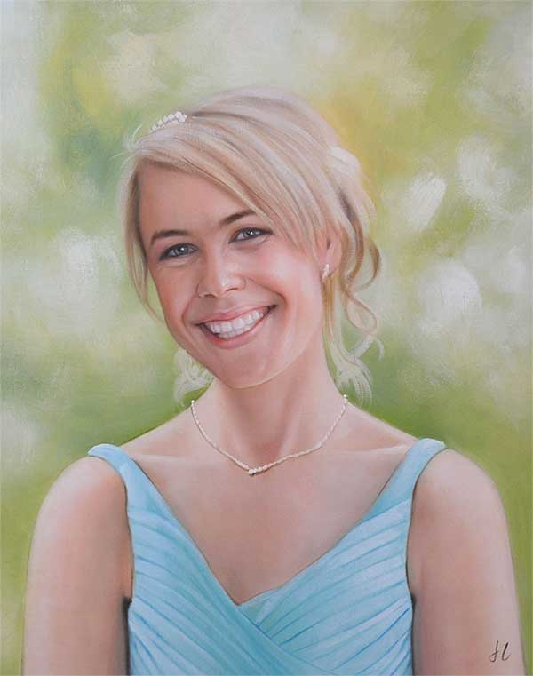 Beautiful oil painting of a beautiful lady