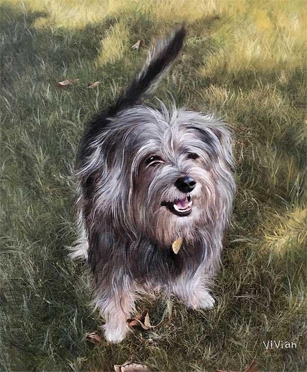 Peinture chien