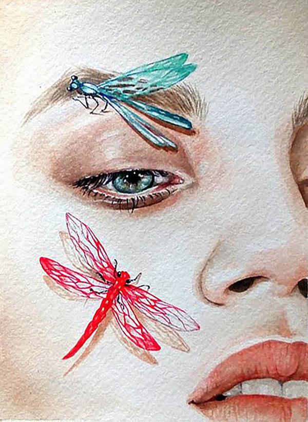 Ritratto artistico ad acquerello personalizzato