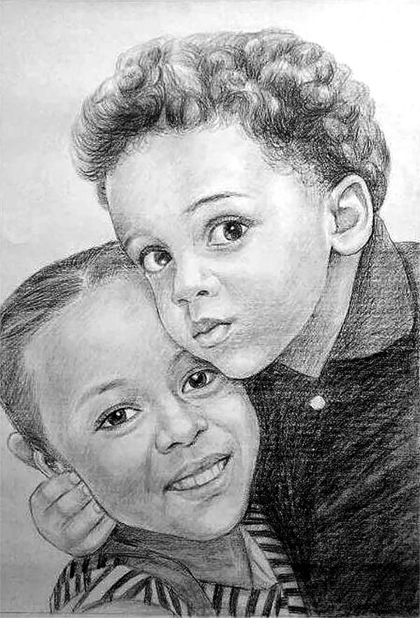 custom portrait drawing