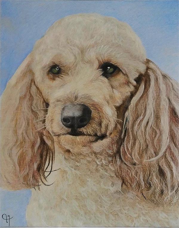 dog pastel painting