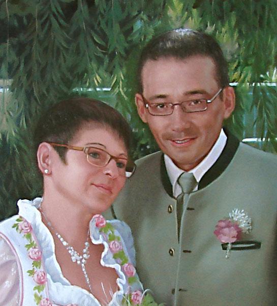 mein Hochzeitsfoto als Ölgemälde
