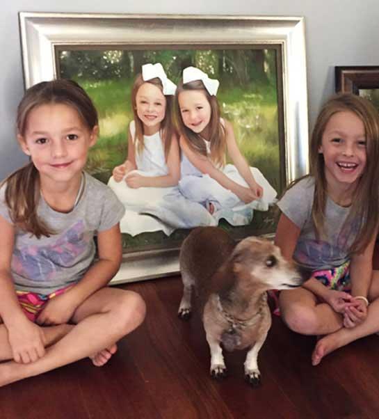Custom Oil Paintings Of 2 Girls
