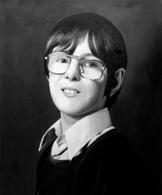 acrylic child portrait