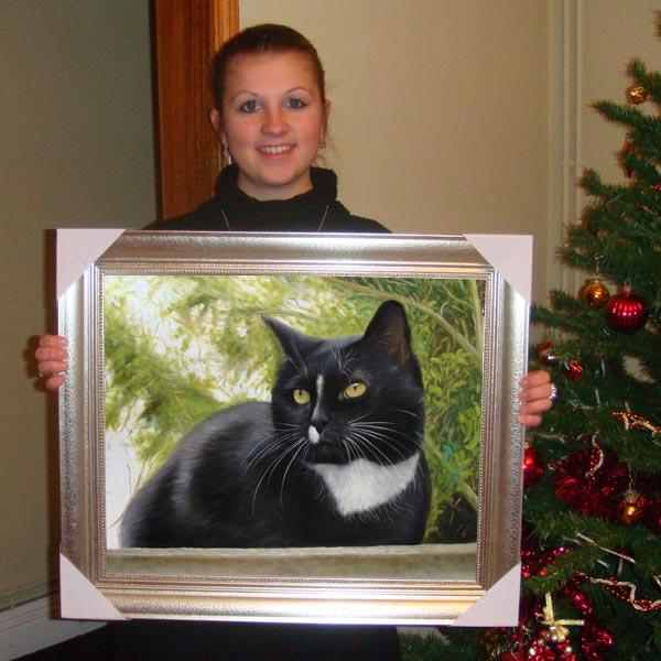 photo de chat que la peinture à l'huile
