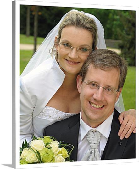 Unser Hochzeitsfoto als Leinwanddruck
