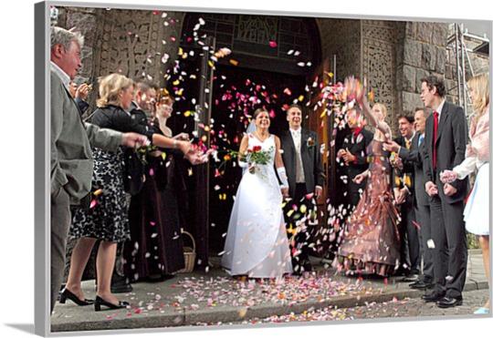 Hochzeitsfoto auf Leinwand gedruckt