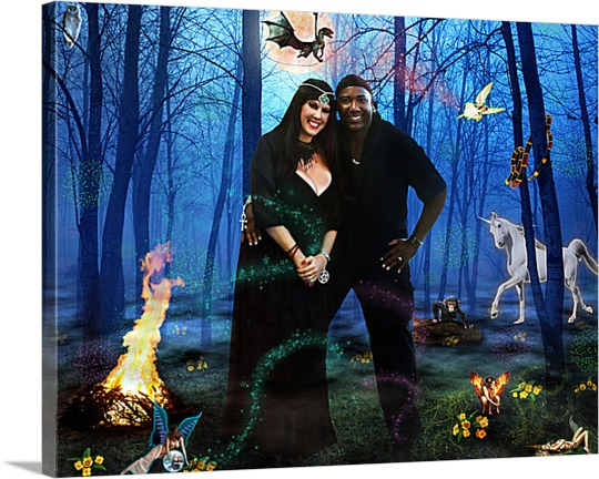Canvas Print of Couple in Fairytale Forest