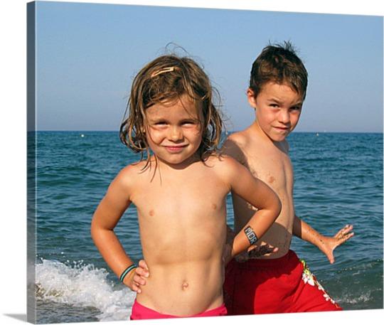 Photos en toile de deux enfants