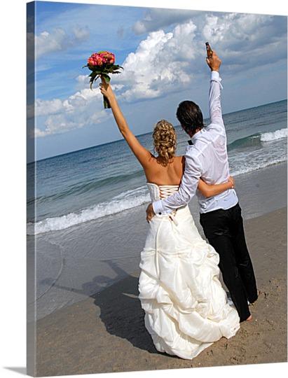 Destination Wedding Picture to Canvas