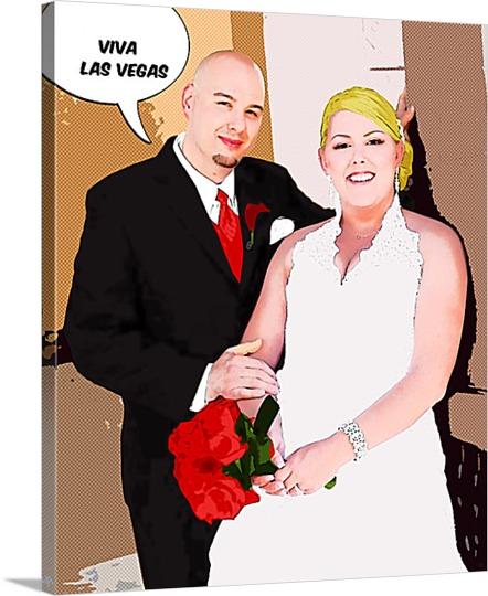 Pop Art Print of Last Vegas Wedding
