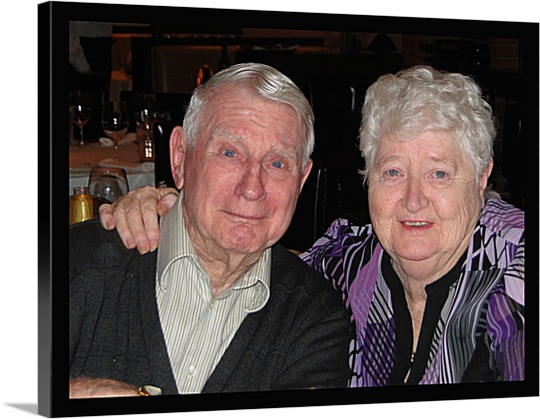 Canvas Print of Older Couple