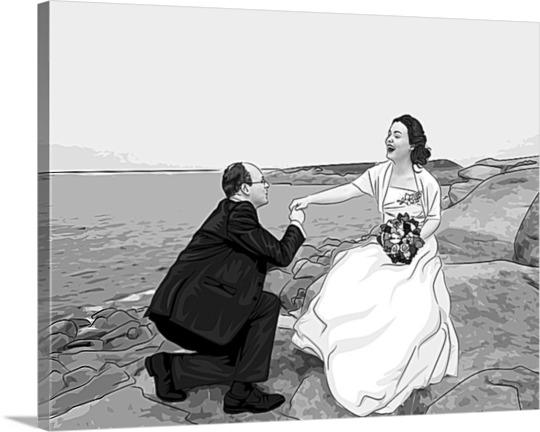 Photo peinture pop art de mariage lichtenstein