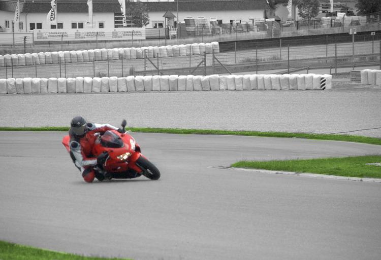 Motorradrennen Leinwanddruck