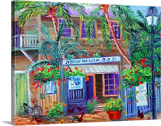 Tiki Bar on Canvas Pop Art