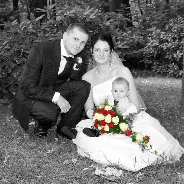 Hochzeitsfoto mit Color Splash Bearbeitung