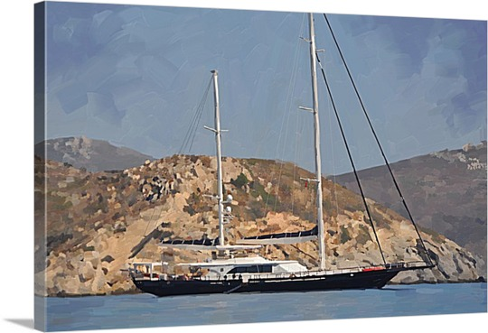 Pop Art of Sailboat from Print