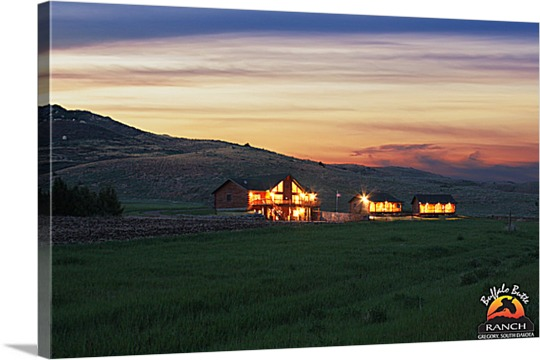 Ranch Home Photo on Canvas