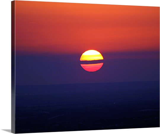 Print on Canvas of Amazing Sunset