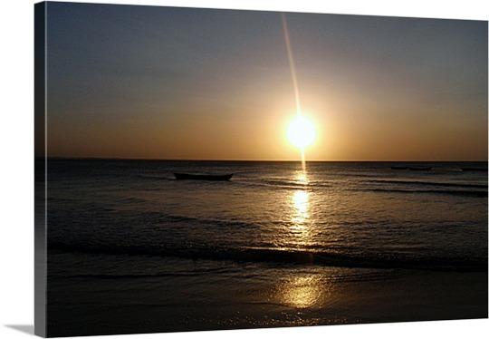 Ocean Sunset Photo on Canvas