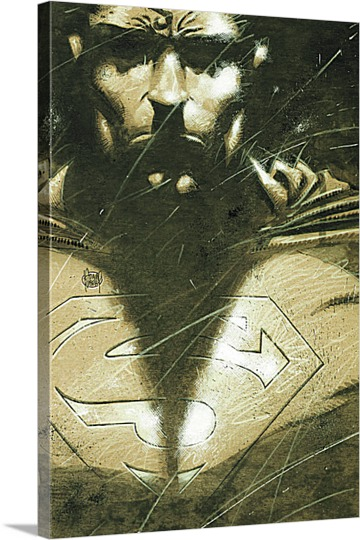 Print of Superman on Canvas