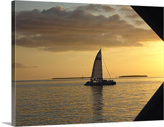 Boat Sailing on Canvas from Photo
