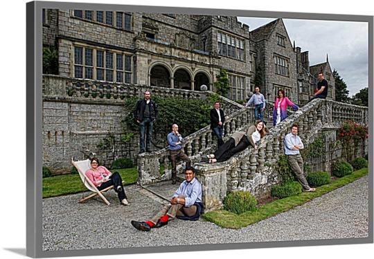 Pop Art Print of Castle Visiting Friends